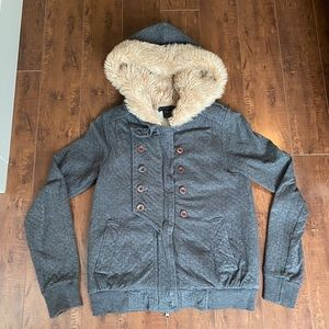 Marc by Marc Jacob Fur Hooded Sweater jacket